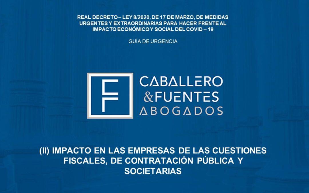 COVID-19: Fiscalidad, contratación pública y Derecho Mercantil